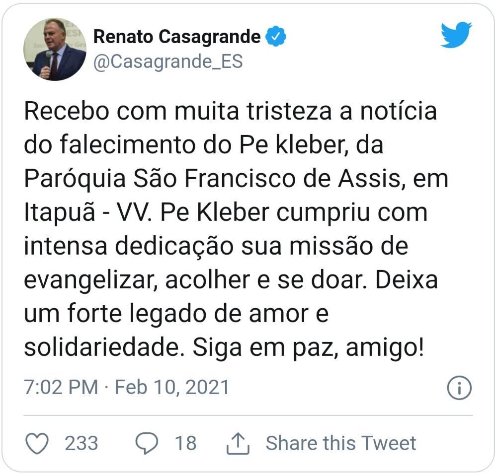 D4A451C35037w996h953 Padre Kleber dos Santos Júnior morre de Covid aos 33 anos